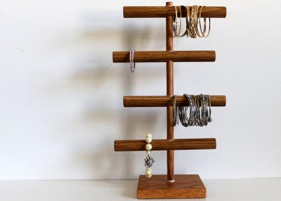 Customized Four Tier Bracelet Holder Jewelry Organizer Zig Zag - Craft Show Display Storage Rack Headband Holder Photo Prop Retail Hanger