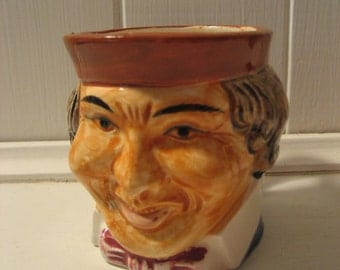 vintage Toby type mug of man with colonial style hair and dress