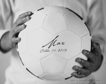 Soccer Ball Art - Boys Room Art, Kids Wall Art, Sports Theme Decor, Custom Sport Photo, Boys Name Art, Personalized Boys Gift, Gifts For Him