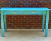 Desk Handmade Shabby Vintage Office Desk Teacher Home Work Table - turquoiseangels