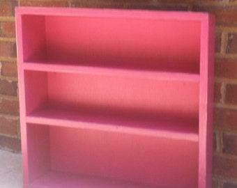 Dorm  Storage Shelf  Shabby Cottage Table Top  mudroom,  19'' x 19'' x 5 3/4''