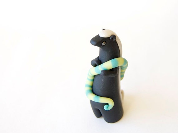 Honey Badger with Snake by Bonjour Poupette