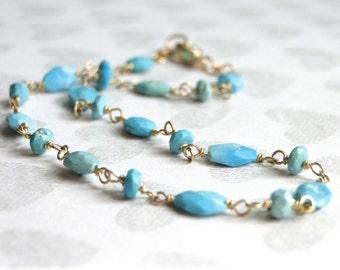 SALE LAST ONE Jewelry, Bohemian, 14k Gold Bracelet, Sleeping Beauty Turquoise Bracelet, Gold Bracelet, Accessories, Bracelet, Gift Box