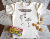 Kids Tshirt - Organic Cotton Toddler Shirt - American Apparel Kids Shirt - Screenprint Tshirt - Mushroom Toddler Tee - Hipster Kids Clothes