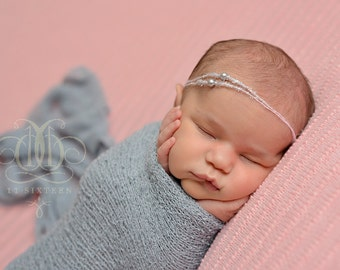 Gray Stretch Knit Wrap Newborn Baby Photography Swaddle