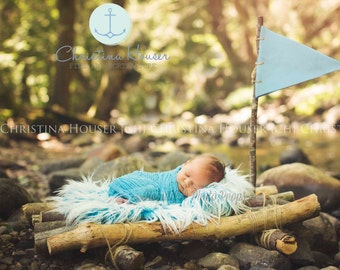 Turquoise Cheesecloth Baby Wrap Cheese Cloth Newborn Photography Prop