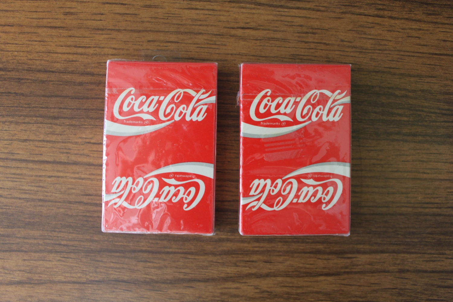 set of 2 coca cola playing cards never been used deck of. Black Bedroom Furniture Sets. Home Design Ideas
