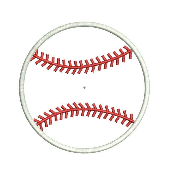INSTANT DOWNLOAD - Baseball Applique Design