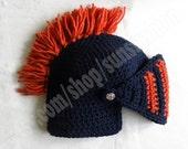 Knight Helmet Hat Slouch Mens orange navy blue denim jeans Beanie Hat Handmade Winter Men Snowboard Hat Ski Woman Boy Girl unisex