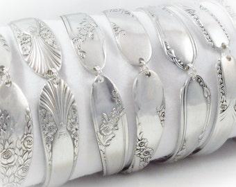 8 Bridesmaids Bracelets, FREE ENGRAVING, Set of 8, Bridesmaids Gifts, Bridesmaid Jewelry, Spoon Bracelet, Spoon Jewelry, Vintage Wedding