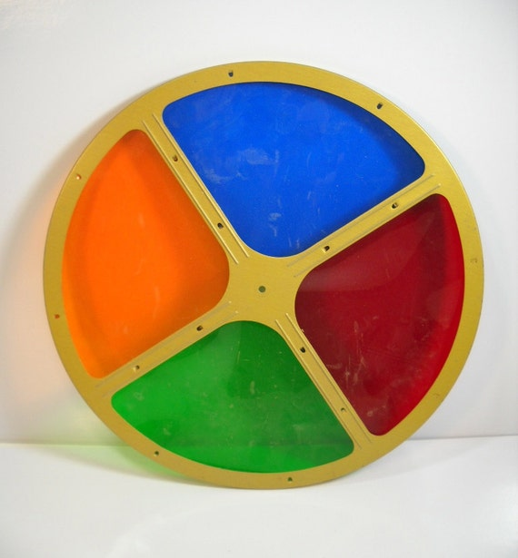 Silver Christmas Tree Color Wheel: Vintage Color Wheel For Aluminum Christmas Trees Replacement