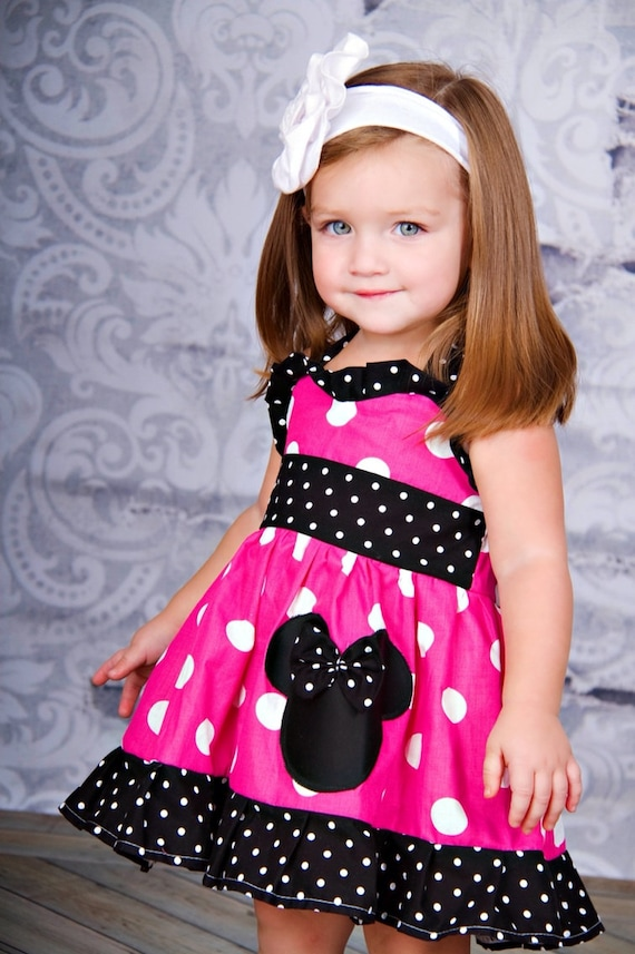 Minnie Mouse Dresses for Girls Birthday Parties Marili Jean is an online children's boutique specializing in baby girl clothes, Minnie Mouse dresses, matching sister outfits, and trendy girl clothing.