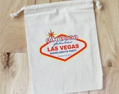 LAS VEGAS - Personalized Favor Bags - Bachelorette Party - Wedding Party - Set of 10