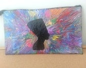 Royal-Hand Painted Clutch Purse