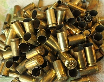 1 Pound of Mixed Brass Spent Bullet Shell Casings from Colorado 9mm Luger, 40 caliber, 45 caliber, 38 special - LB-MXBU