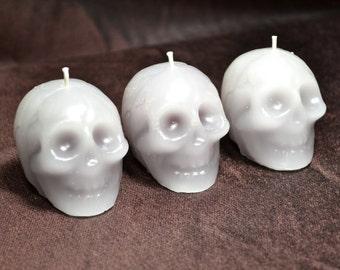 Trio of Mini Plague Skull Bleeding Candles