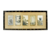 antique framed natural landmark wall-hanging