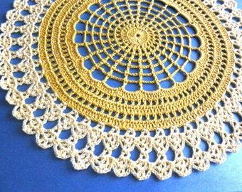 Thanksgiving doily crochet,fall doily,handmade doily,home decor,table decor,fall gift lace.no-1