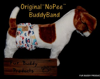 "New Print.....Original ""NO-Pee"" Waterproof  BuddyBand Diaper with Pul and Zorb..All Sizes"
