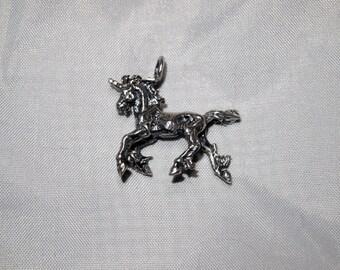 3D Unicorn Pendant in Sterling Silver