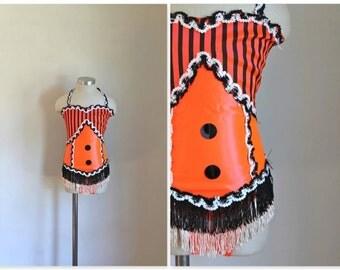 vintage little girl's dance costume - JACKOLANTERN stage costume / sz 8-10