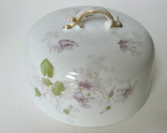 Sale...Lovely Limoges Butter or Cheese Topper / Lid / Cover