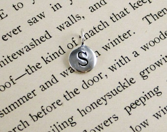 "Sterling Silver Letter  ""S"" Charm"