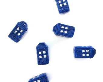 Dr. Who TARDIS Beads - Blue Phone-Box Beads