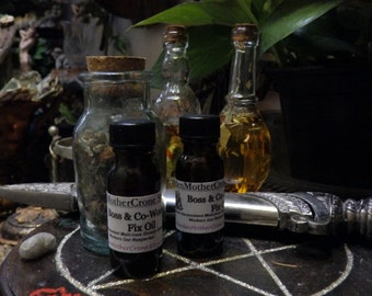 Boss Worker Fix Oil Wicca Pagan Spirituality Religion Ceremonies Hoodoo Metaphysical MaidenMotherCrone