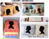 Personalized Silhouette Pillow. One Face. One Pillow. Choose your fabric.