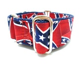 """Houndstown 1.5"""" Dixie Unlined Martingale Collar Size Small Medium or Large"""