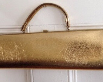Theodor California Purse Gold Metallic Handbag Vintage Clutch