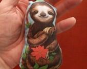 Baby Sloth Stuffed Fabric Christmas Ornament