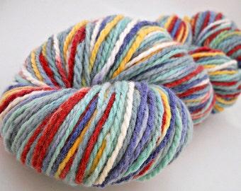 Hand-dyed Yarn Variegated Superfine Merino Wool Heavy Worsted Aran Balloon Fiesta
