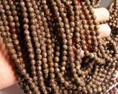 Obsidian 6 mm A quality - 62 beads per strand - full strand - brown snowflake obsidian - RFG117