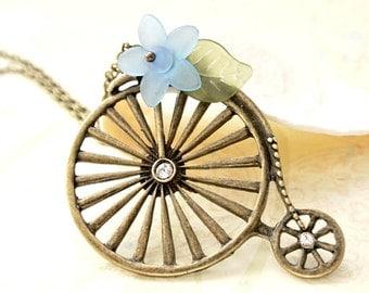 Bicycle Necklace,Bike Necklace,Highwheeler Bicycle Jewelry, Sport Jewelry,Cycling Jewelry