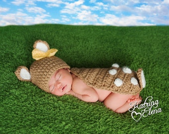 Baby Deer Newborn Photo Prop/ Little Baby Fawn Prop/ Newborn Girl Photo Prop/ Deer Photo Prop