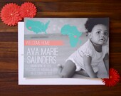 Adoption Announcement Country Map Personalized