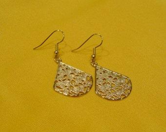 Miss Fancypants bright gold earrings (Style #379)