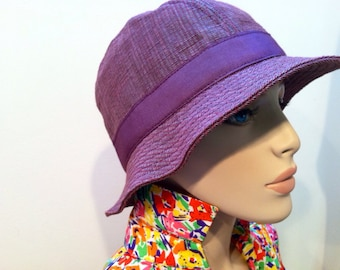 MALO authentic designer hat cappello Vibrant ORCHID trend wine fedora style hat parladimoda artedellamoda purple millinery SALE was 140