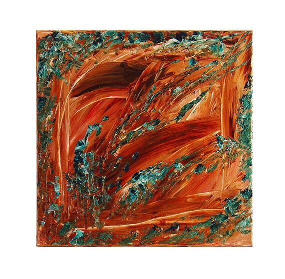 Autumn Harvest, Original Modern Art Textured Abstract Painting by Lisa Strassheim
