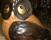 """Mid Century OWL Made in Japan Ceramic Group Large One 4.5"""" Tall"""