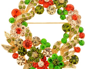 Flower Wreath Pin and Pendant 1010482