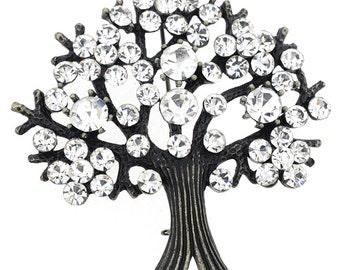Crystal Tree-in-Full-Bloom Pin Brooch 1002193