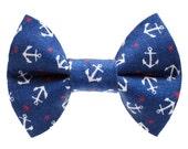 "Cat Bow Tie - ""The Ship Ahoy""  - Nautical Anchor"
