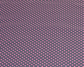 "LAMINATED Cotton  - Neon Pink Dots, 56"" Wide, BPA & PVC Free"