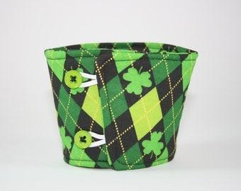 St. Patrick's Day Shamrock Coffee Cozy Sleeve