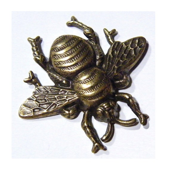 Steampunk Bee Pin Brass Honey Victorian Style By Tempusfugit