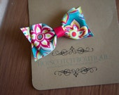 Patty clips in Bright Flowers Hair Bow bow tie hair clip