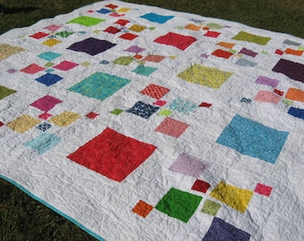 Bright, Cheerful, Happy Quilt - 90 inches square!